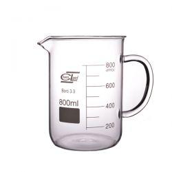 [2460] Zlewka szklana niska z uchem 800 ml - 1 szt
