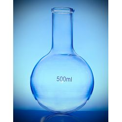 [2523] Kolba szklana okrągłodenna wąska szyja - 50 ml