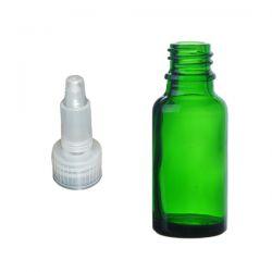 Butelka szklana zielona z zakraplaczem 50 ml