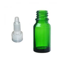 Butelka szklana zielona z zakraplaczem 15 ml