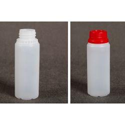 Butelka HDPE z nakrętką z plombą 100 ml - 1 szt