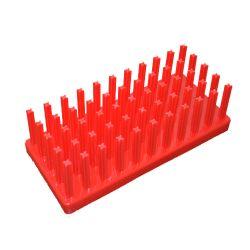 [0725] Statyw do probówek - jeż czerwony, średnica miejsc 17-20 mm