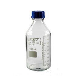 [0600] Butelka z niebieską nakrętką gwint GL 45 - 1000 ml