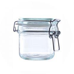 [3213] Słoik szklany kosmetyczny z klipsem 250 ml - 1 szt