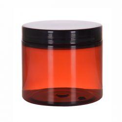 [3215] Słoik kosmetyczny PET brązowy z nakrętką 200 ml - 1 szt
