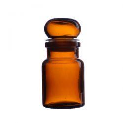 Słoik apteczny oranżowy ze szklanym korkiem 50 ml