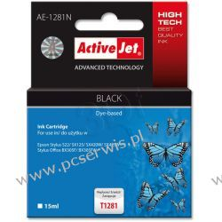 ActiveJet AE-1281N (AE-1281) tusz Black pasuje do drukarki Epson (zamiennik T1281)