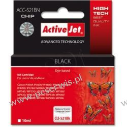 Activejet ACC - 521BK tusz cyan do drukarki Canon (zam. CLI - 521BK) (z czipem)