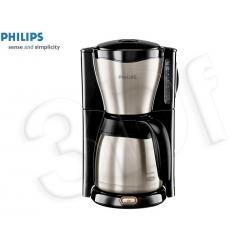 Ekspres przelewowy PHILIPS ThermInox HD 7546/20 (1.2 l / 1000 W, czarno srebrny)...