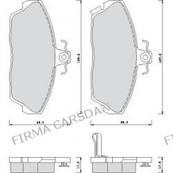 KLOCKI HAMULCOWE HONDA ACCORD/ CIVIC/ ROVER 214/ 216/ 418/ 4...