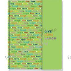 Notes Live Love Laugh notatnik Pauper Press pamiętnik