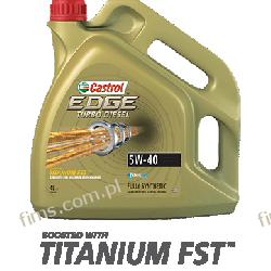 CASTROL EDGE 5W-40 TD TITANIUM FST 5L OLEJ SYNTETYCZNY CENA 132 PLN 505.01  DEXOS2 RN0700/0710 WSS-M2C917-A;