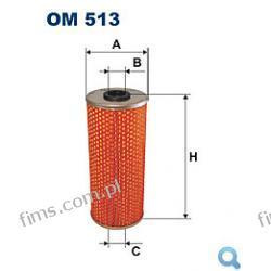 OM513 FILTR OLEJU Mercedes 613, L 613D 78->, 1413, 1513, 1613, 1813, LP 813 78->  Iskrowe