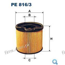 PE816/3 FILTR PALIWA Citroen Xsara 2.0HDI, Evasion 2.0HDI; Peugeot 306 2.0HDI, 406 2.0HDI, Partner 2.0HDI 2/99-> ( 1906.50, 1906.51)  PE816/3,190650,190651,9401906508,1541