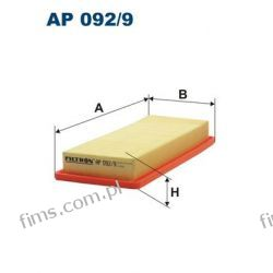 AP092/9 FILTRON CENA 34 PLN FILTR POWIETRZA Citroen Nemo  Fiat Fiorino II Qubo Peugeot Bipper 1.4  51785947  1444.SC C3495  A1295 LX2738