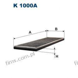 K1000A FILTRON FILTR KABINOWY Opel Astra Calibra 10/92->Corsa  z węglem aktywnym  1718044  CUK4251
