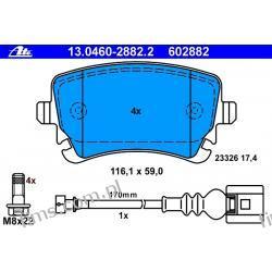 13.0460-2882.2 ATE CENA 163 PLN klocek hamulcowy kpl. T VW T5 04.03-