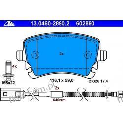 13.0460-2890.2 ATE CENA 235 PLN Klocek hamulcowy kpl. T VW Phaeton 3.2 V6 02-