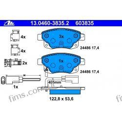 13.0460-3835.2 ATE CENA 285 PLN Klocek hamulcowy kpl. T FORD Transit 2.2Tdci, 2.4 Tdci 06- Pozostałe