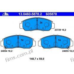13.0460-5878.2 - ATE CENA 155 PLN - KLOCKI HAMULC. HONDA FR-V 05-