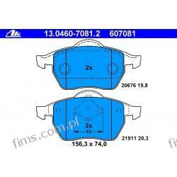 13.0460-7081.2 - ATE CENA 128 PLN - KLOCKI HAMULC. VW GOLF IV 1,8T-2,8 V6 97-