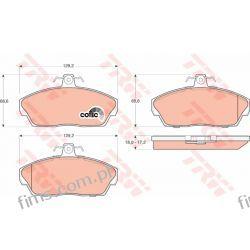 GDB1319 TRW CENA 105 PLN KLOCKI HAMULC. PRZÓD LANDROVER FREELANDER 97-00   SFP100360  13046058302  P44010
