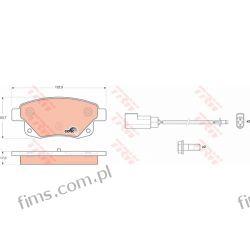 GDB1725 TRW KLOCKI HAMULC. FORD TRANSIT 06- TYŁ  13046038352  1560026  P24066 Iskrowe