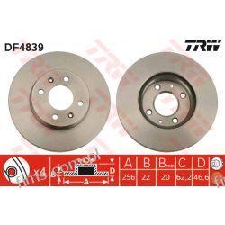 DF4839 TRW CENA 95 PLN TARCZA HAMULC. HYUNDAI ACCENT 05- KIA RIO II 517121G000  30H0323  09A44510