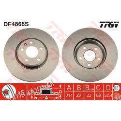 DF4866S TRW CENA 189 PLN TARCZA HAMULC. PRZÓD AUDI A5 A4 07-  8K0615301  09A82010  24012501841