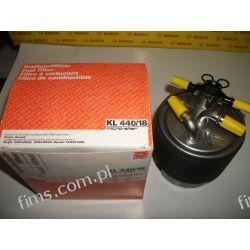 KL440/18 KNECHT CENA 99 PLN Filtr paliwa NISSAN QASHQAI/X-TRAIL 1.5/2.0dCi 02/07- (bez czujnika wody); RENAULT KOLEOS 2.0dCi 02/08-