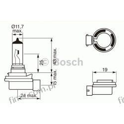 1987302081 BOSCH CENA 34 PLN ŻARÓWKA H8 35W 12V PURE LIGHT Żarówka,