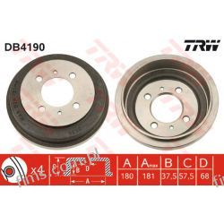 DB4190 TRW CENA 150 PLN BĘBEN HAMULC. NISSAN ALMERA 95-00 4320650Y10