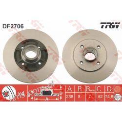 DF2706 TRW CENA 88 PLN TARCZA HAMULC. RENAULT CLIO MEGANE  TYŁ 7700780078