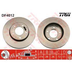 DF4012 TRW CENA 130 PLN TARCZA HAMULC. PRZÓD MAZDA XEDOS 9  MPV  T0023325X  J3303056  16524  30H3038