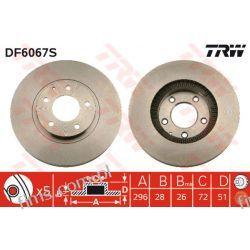 DF6067S TRW CENA 202 PLN TARCZA HAMULC. PRZÓD MAZDA MPV 02-05  L12Y3325X  30H3054