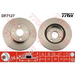 DF7127 TRW TARCZA HAMULC. PRZÓD TOYOTA COROLLA 04-   4351202050   Kompletne zestawy