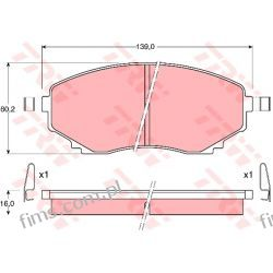 GDB1177 TRW CENA 125 PLN KLOCKI HAMULC. MAZDA MPV 95-99   MAZDA E2200  10H3003  J3603046
