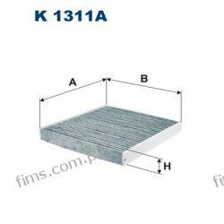 K1311A FILTRON CENA 33 PLN FILTR KABINOWY WĘGLOWY GOLF VII OCTAVIA LEON AUDI A3  5Q0819653  CUK26009  LAK888