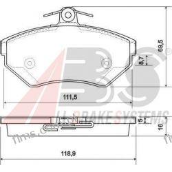 37011 A.B.S. KLOCKI HAMULCOWE VW GOLF III VENTO  LUPO POLO  P85032  GDB1437  13.0460-2821  0986494010