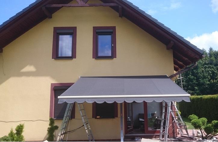 Markiza Tarasowa Green House 500 X 300 Wysięg Cm Z