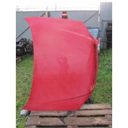Opel Astra II maska czerwona czerwony zderzak