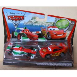 Francesco Bernoulli & ZYGZAK (org. Lightning McQueen) z bajki CARS 2 produkcji DISNEY PIXAR MATTEL V2835