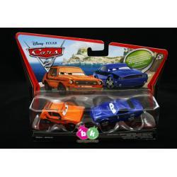"""Grem & Damageg Rod """"Torque"""" Redline z bajki CARS 2 produkcji DISNEY PIXAR MATTEL V2836 Karabiny"""