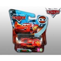 ZYGZAK z pachołkiem (org. Lightning McQueen) z bajki CARS produkcji DISNEY PIXAR, firmy MATTEL T0739