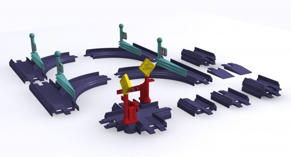 STACYJKOWO - ZWROTNICE firmy LEARNING CURVE