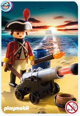 """PLAYMOBIL 5141 Piraci - STARSZY KANONIER """"CZERWONYCH KURTEK"""""""