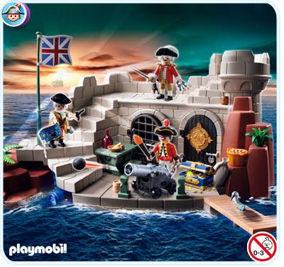 PLAYMOBIL 5139 Piraci - TWIERDZA ŻOŁNIERSKA ZE SKRZYNKĽ NA SKARB