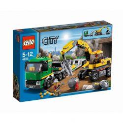 LEGO CITY 4203 - KOPARKA Z TRANSPORTEREM Karabiny