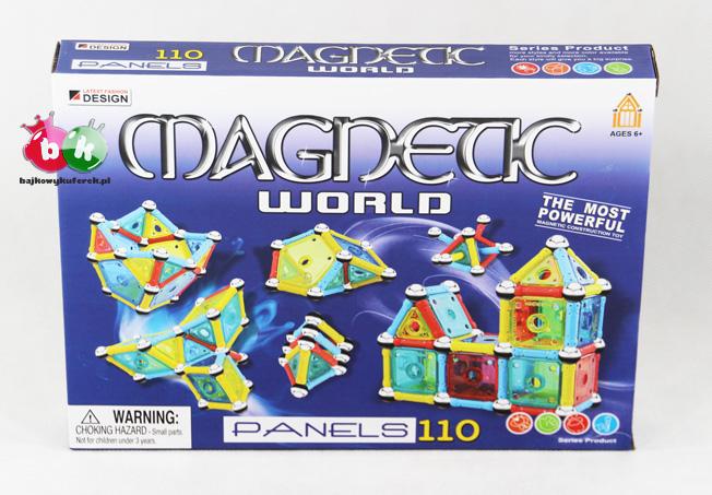 Klocki magnetyczne PANELS 110 MAGNETIC WORLD