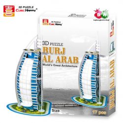 CUBIC HAPPY - PUZZLE 3D 20el. Hotel BURJ Al ARAB w Dubaju Karabiny
